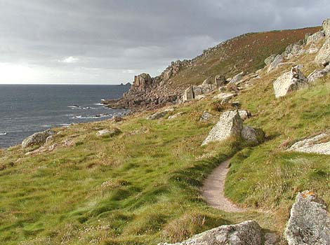 The cliffpath to Cape Cornwall by Colin Ward