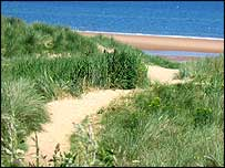 The dunes at Seaton Sluice