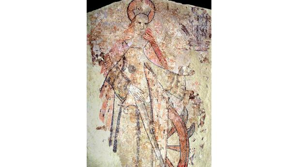 Medieval Wall Painting of St Catherine