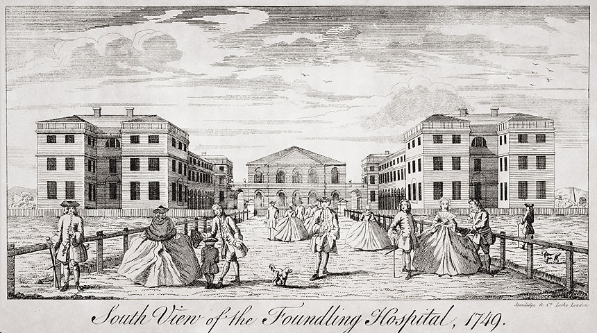 The Foundling Hospital in London where Handel, a governor, directed concerts of his music to raise funds