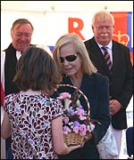 The Duchess of Kent gets a warm welcome