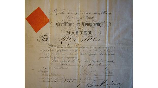 Certificate - Ship's Master
