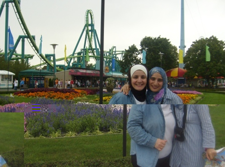 Raghad and I in cedar point