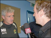 Mark Hughes with Andy Bayes