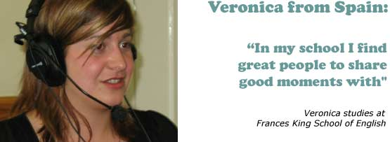 Veronica from Spain - 'In my school I find great people to share good moments with'