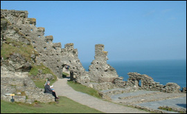 Tintagel Castle in the Spring