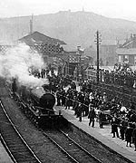 Crowds at Redruth station