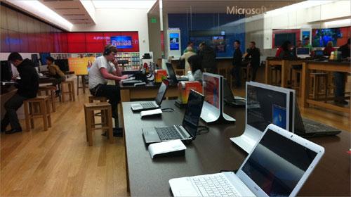 Inside Microsoft store