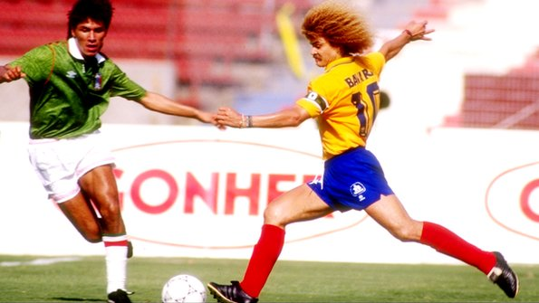 Carlos Valderrama playing for Colombia in 1993