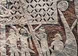 Detail of a picture stone depicting a Viking ship, from the Isle of Gotland; Historiska Museet, Stockholm