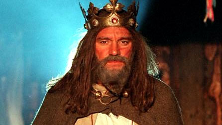 Image of an actor playing King Arthur in a 2002 BBC documentary