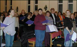 Rehearsing a song from West Side Story