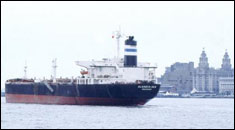 Tanker on the Mersey