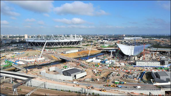 London Olympic Park as of 17 June 2010