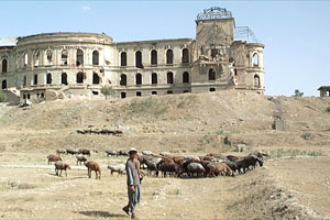 The bombed out remains of the King of Afghanistan's palace