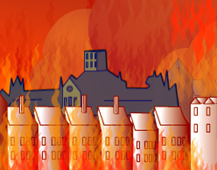 BBC - History - British History in depth: Great Fire of London: Skyline  Animation