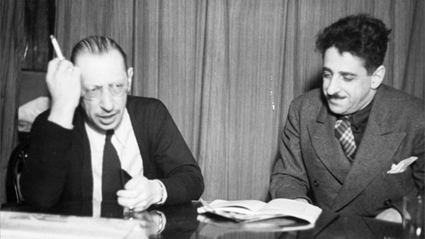Stravinsky and Alexander Smallens © Getty Images