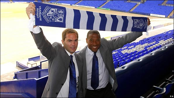 John Barnes (right) and Jason McAteer are unveiled as the new management team at Tranmere
