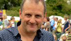 Radio 2's Mark Radcliffe relaxing ahead of his radio broadcast.