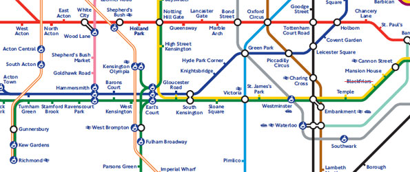 new london tube map without river