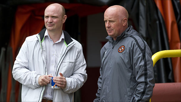 Dundee United chairman Stephen Thompson and manager Peter Houston