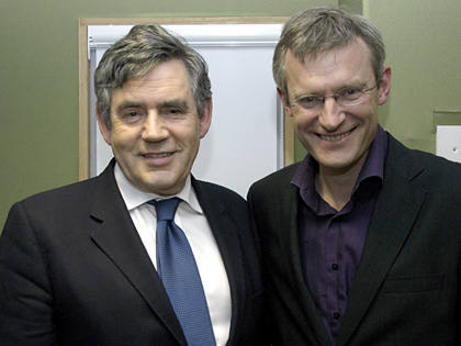 Jeremy was joined by Prime Minister Gordon Brown - April 2009