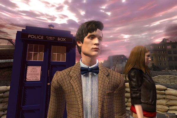 Amy and the Doctor in the Doctor Who Adventure Games