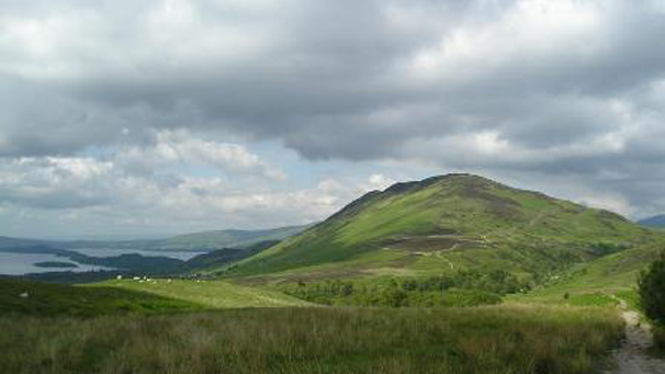 After Drymen walkers are offered alternative routes.  For the best views over Loch Lomond, take the route over Conic Hill.  For a more relaxed stroll, take the low road to Balmaha.