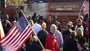 Tea Party rally in Colombus, Ohio
