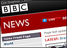 A graphic of the BBC News website