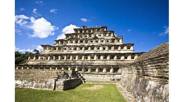 The pyramid Of The Niches, El Tajin, Veracruz, Mexico. Photo: Glow Images