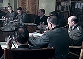 Reconstruction of a meeting at which Nazi officials decided that millions of Soviets would be allowed to die through starvation