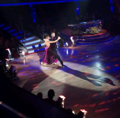 Kara Tointon and Artem Chigvintsev in the Strictly Come Dancing dress rehearsal
