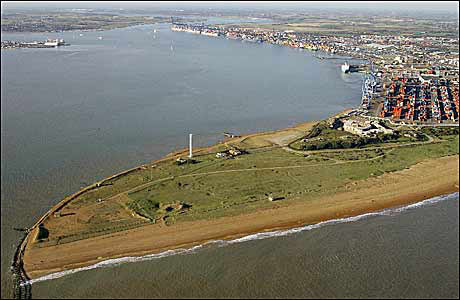 Landguard Point, Orwell estuary
