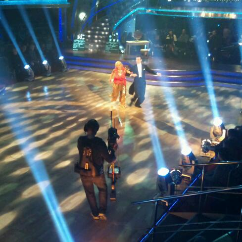 Ann Widdecombe and Anton du Beke in the Strictly Come Dancing dress rehearsal