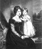 Queen Victoria, aged two, with her mother the Duchess of Kent