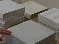 Each type of local stone has distinctive qualities