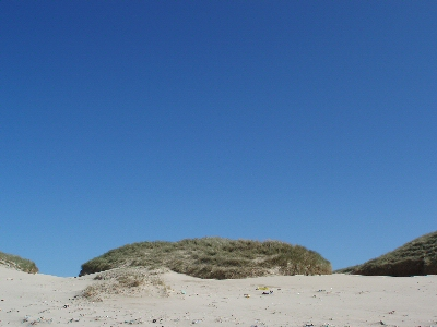 Blue sky above Eoropaidh dunes