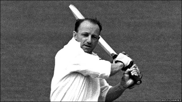 Don Bradman in action for Australia