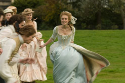 Keira Knightley in her role in The Duchess