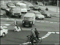 The Magic Roundabout in Swindon, 1972