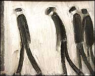 Four Men Walking by Theodore Major