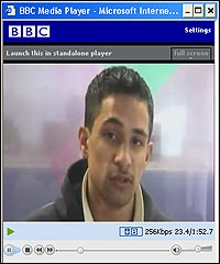 Watching video using BBC Media Player