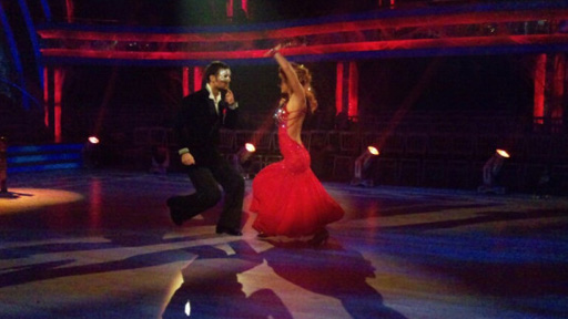 Harry and Aliona rehearsing