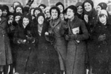 Women at the end of the strike