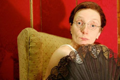 Amanda Lawrence as Charles Hawtrey. Photograph courtesy of Sadie Lee.
