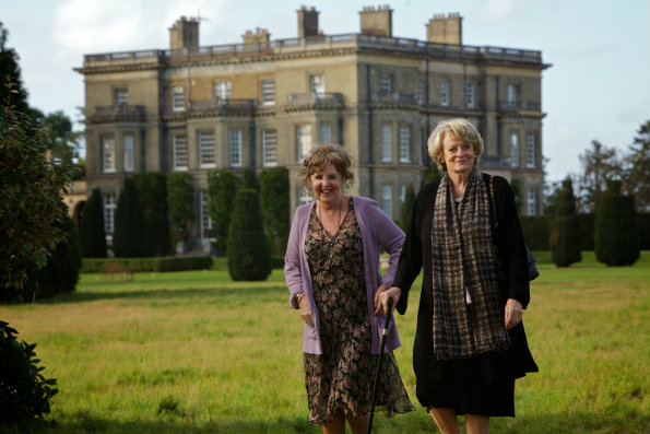 Pauline COllins and Maggie Smith outside Hedsor House