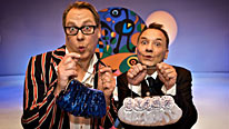 Vic Reeves and Bob Mortimer preside over the mayhem in the last episode of the current series