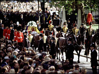 Diana, Princess of Wales' funeral cortege