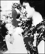 Philomena Lynott with her son